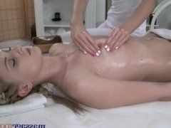 Massage Rooms Teen lesbians finger fuck each other and enjoy g-spot orgasms