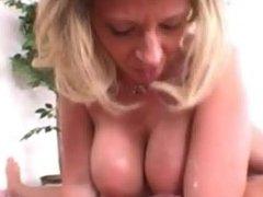big blonde titty fucking