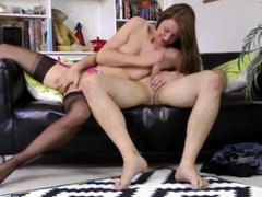 British euro mature in stockings plowed hard