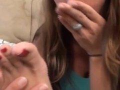 Nikki Smells Her Stinky Feet