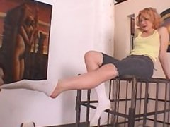 slave girl worships socks