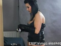Smoking in Latex - Gloves & Mini Dress
