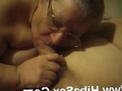 My granny girlfriend gives me blowjob with passion