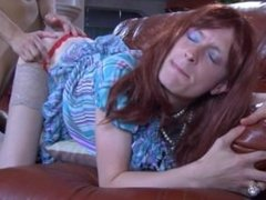Redhead crossdresser gets fucked by boyfriend