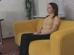 Skinny shy casting amateur from russia