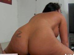 Busty brunette Richelle Ryan riding cock