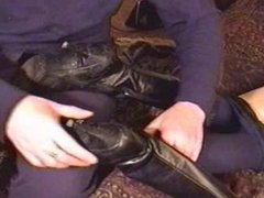 Removing High Heel Boots to Sniff Smelly Mature Feet..