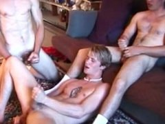 Straight twink group fun with cumshots