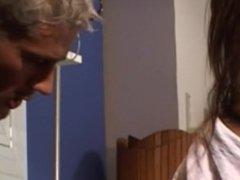 French nurse Katsun like deepthroat and facial