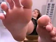 German ankle socks and bare feet show