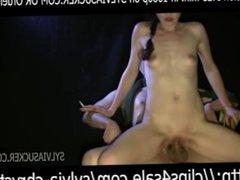 Hungarian Smoking EVE120's Light Bondage Fuck and CumShot Sylvia Chrystall