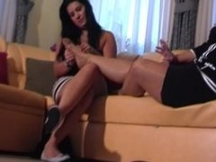 Sniffing Mature Feet 4