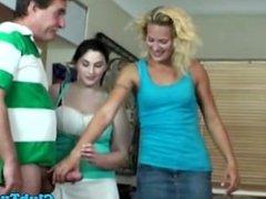 Tugging loving matures pampering dick