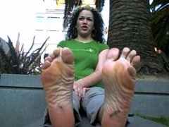 Latina Steamy Hot Feet Out Of Flats