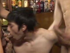 Gay Threeway at the Bar