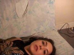 Leila Smoking While Laying