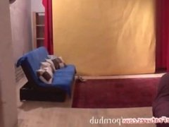 Muscular czech chick shows her hot body at the CASTING