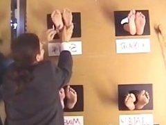 Wall Of Feet tickling