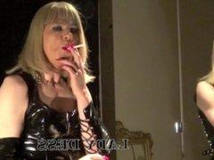 SMOKING IN PVC DRESS-1