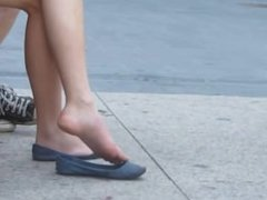 Candid feet outside the office