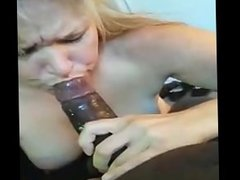White Wife Blows Black Bull