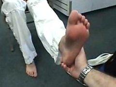 Soft Feet of Mixed Race Girl