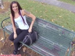 Stranded picked up tattooed chick pov banged