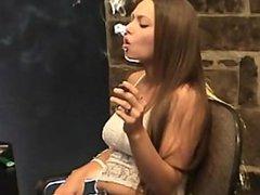 Lynn smoking fetish.