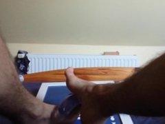 Feet job with dildo