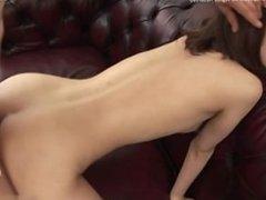 Cowgirl cum on tits