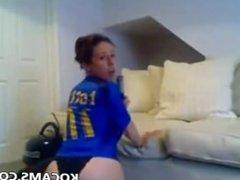 Hot girl masturbate with vacuum cleaner