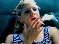 free girl smoking cigarette video Marlboro red 100!-thegirlsmoking.