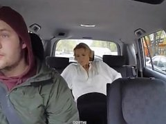 Crazy Chick Change Clothes in Taxi