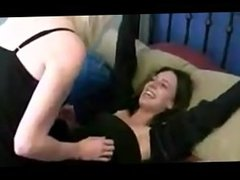Mom Tickles Daughter