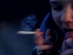 blowjob of my fat & ugly whore while smoking