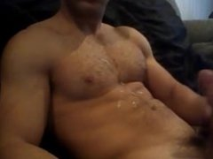 Hairy Chested Shoots a load