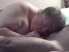 BBW sucking 2guys