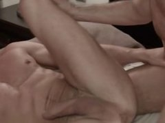Brutal son doggy creampie