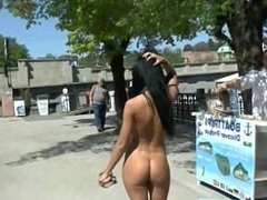 Naughty babe gina devine naked on public streets