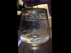 Spectacular Shooter Sperm in a glass