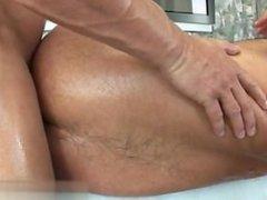 Hot daddy handjob cumshot