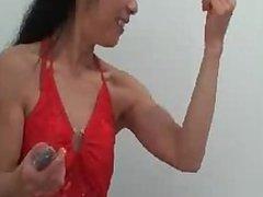 YOKO webcam biceps flexing