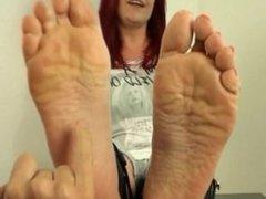 Tickling Catherine Foxx's Feet