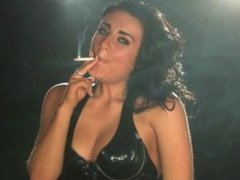 Emma may smoking fetish brunette deep 120's all white