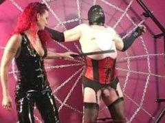Domina Melissa punishes crossdresser slave