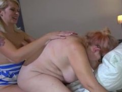 Fat lesbian mature and young girl with big boobs