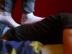 trampling in socks