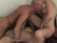 Lucky guy fucking two blondes