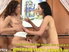 Pissing lesbians with kinky amateur teens