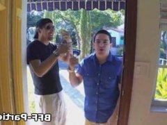 Amateur pov foursome oral video
